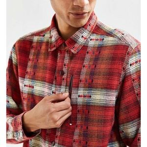 Urban Outfitters Flannel Western Print Shirt SZS